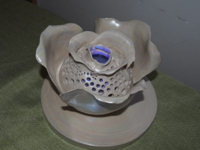 白バラのランプ。中はledを入れます。のイメージ