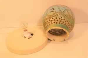 やす波窯の陶器ランプシェード